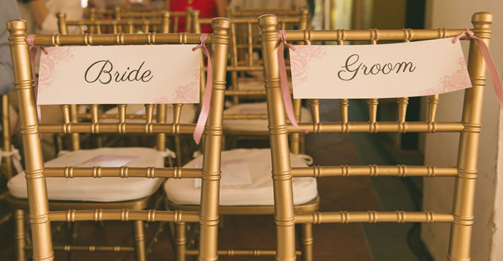 Tiffany chairs for the couple