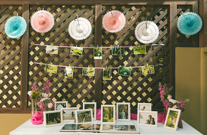 Photo gallery area styled by Rosette Designs