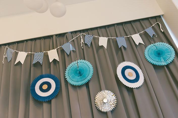 Nautical themed 1st month birthday baby shower_009