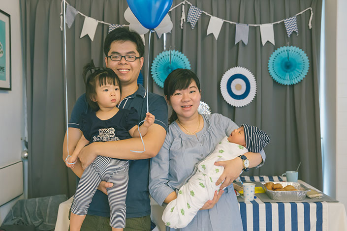 Nautical themed 1st month birthday party for baby Aiden (Winston & Hellen)