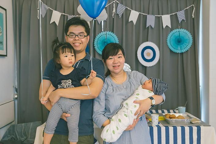 Nautical themed 1st month birthday baby shower_070