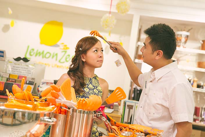 Pre-wedding photoshoot at Pasarbella (Lemon Zest)