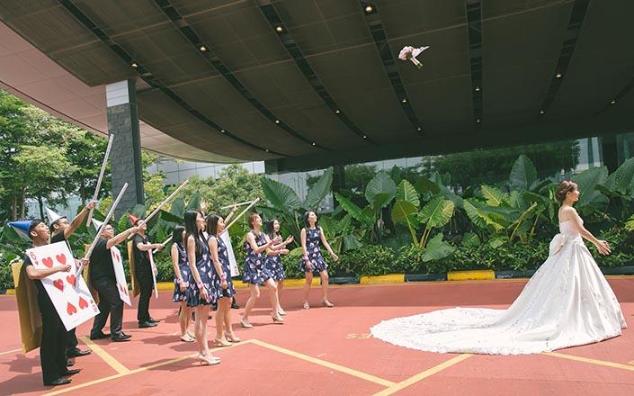 Alice in Wonderland-themed Wedding Day Photography at Marina Mandarin