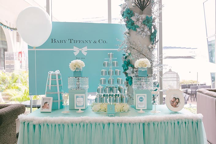 Tiffany Blue themed Baby Shower Party Photography At