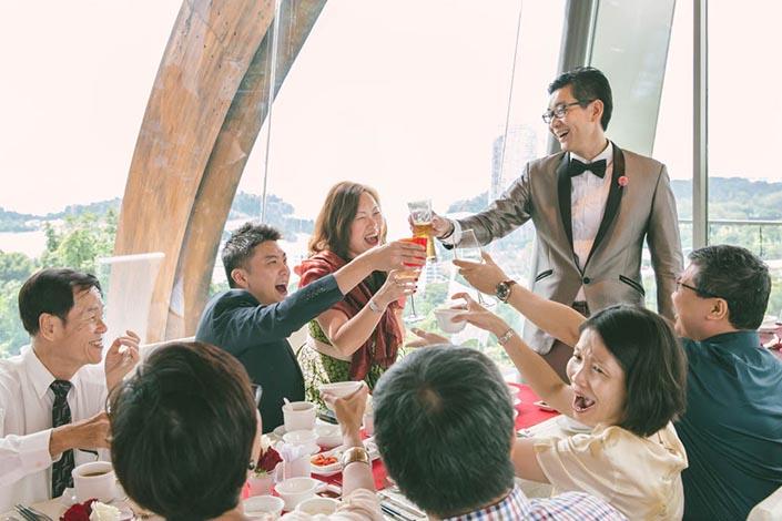 Wedding Day Photography at Faber Peak, Mount Faber