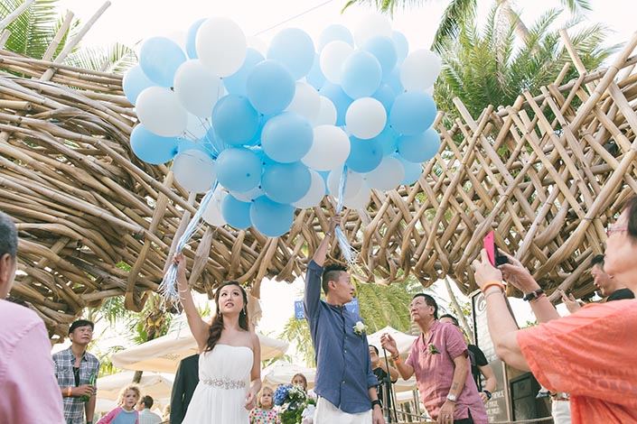 Wedding Day Photography at Sandbar Siloso Beach Sentosa