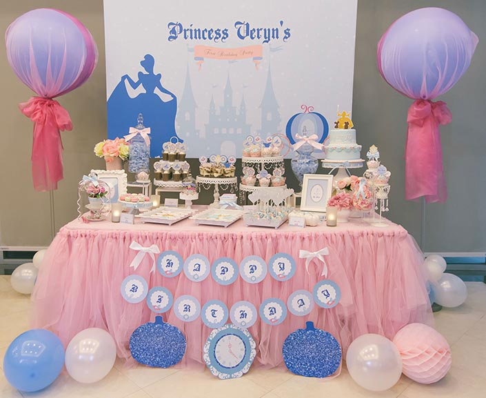 Fairytale Princess Themed 1 Year Old Birthday Party Photography
