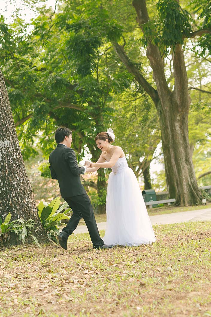 Wedding Day Photography at Fort Canning