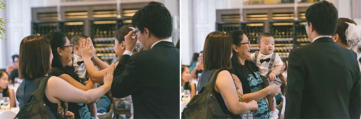 Wedding Day Photography at Flutes Restaurant - National Museum of Singapore