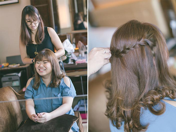 Wedding Day Photography at Fullerton Bay Hotel (Valerie TangYong Hair & Makeup)
