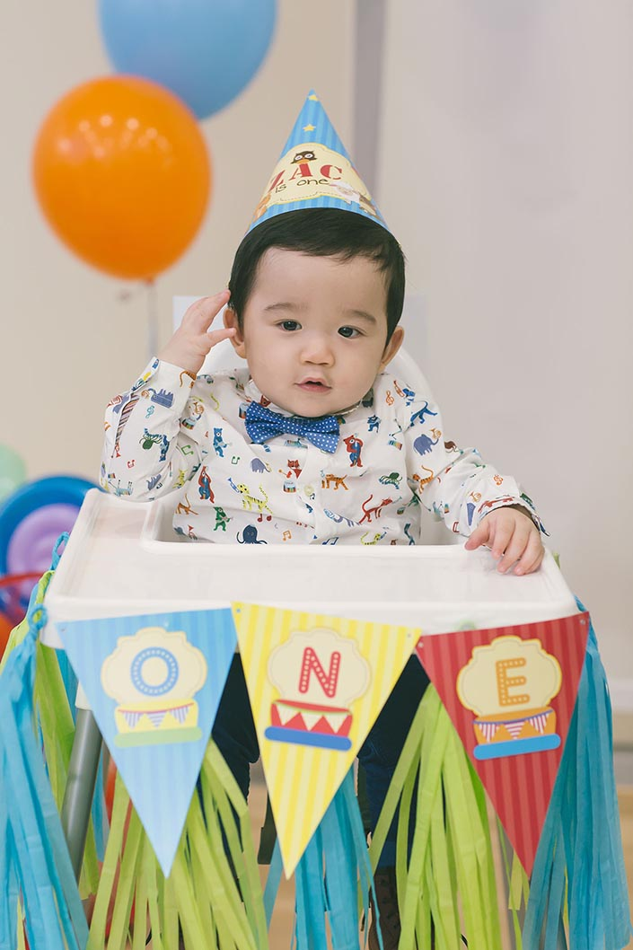 Happy Baby Animals Themed 1 Year Old Birthday Party Photography