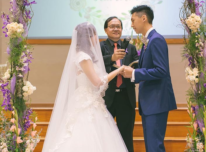Wedding Day Photography at Calvary Baptist Church (Liang Song & Hui Min)