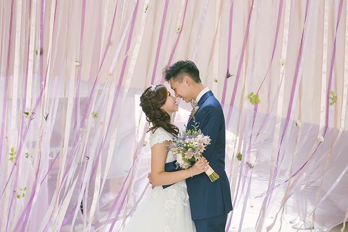 wedding day photography at calvary baptist church liang song hui