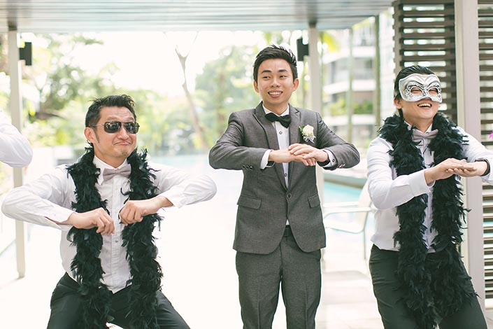 Wedding Day Photography at Mount Faber (Gatecrashing - Korean dance)