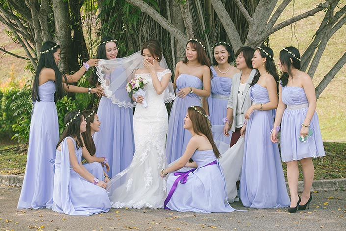 Wedding Day Photography at MacRitchie Reservoir Park (Bridal Party)