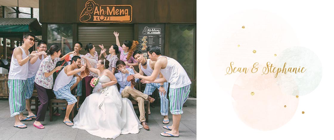 Ah Gong & Ah Ma-themed Wedding Day Photography at Hotel Fort Canning
