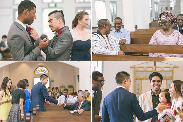 Wedding Day Photography at Church of St Teresa