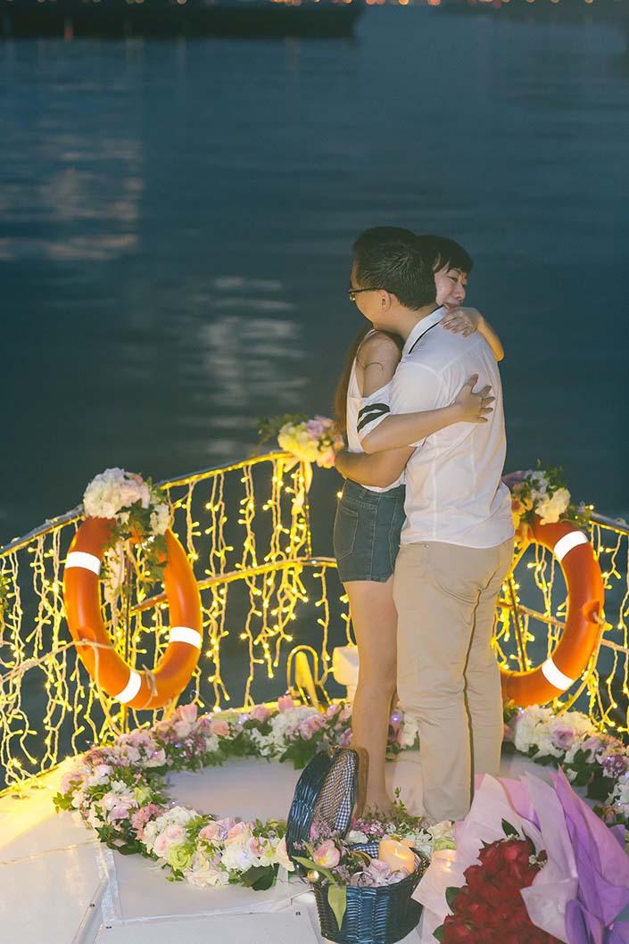 Wedding Proposal Photography Singapore at Marina at Keppel Bay