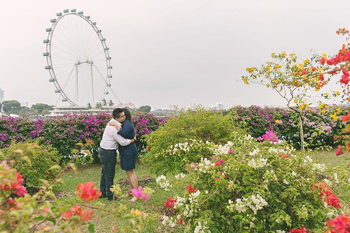 Wedding Proposal Singapore at Gardens by the Bay