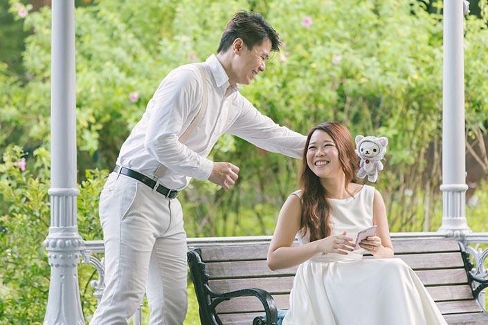 Pre-Wedding Photography Singapore at Botanic Gardens