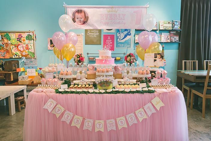 Birthday Party Photography At EatPlayLove Cafe Dessert Table