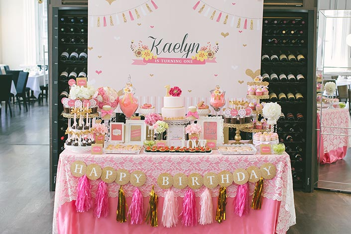 Birthday Party Dessert Table Styling By Deux Dames