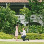 Singapore Wedding Proposal Photography at Raffles Hotel