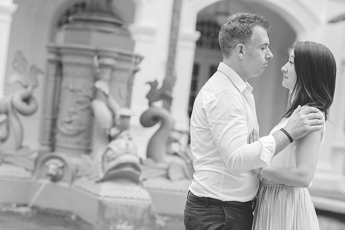 Singapore Wedding Proposal Photography at Raffles Hotel