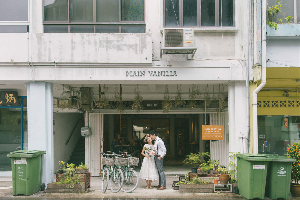 Singapore Pre-Wedding Photography at Plain Vanilla