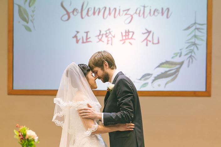 Singapore Wedding Day Photography - Solemnisation at Calvary Baptist Church