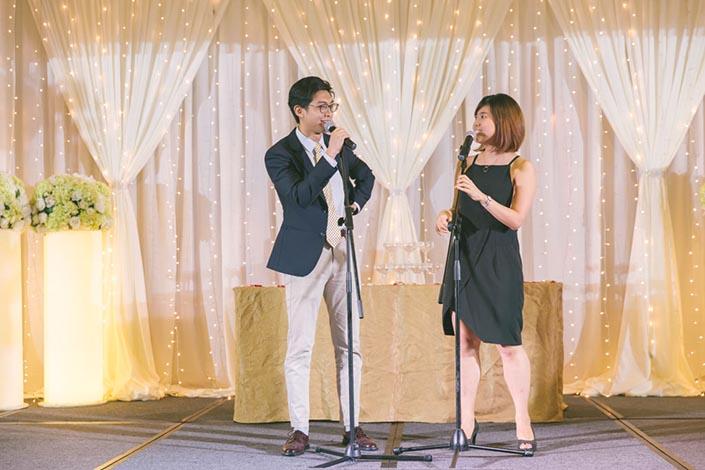 Singapore Wedding Day Photography - Dinner banquet at Marina Mandarin ballroom