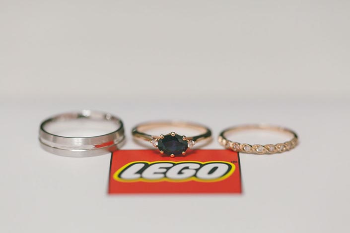 Running and Lego-themed Singapore Wedding Day Photography - Ring shot