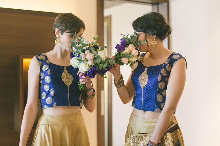 Singapore Wedding Day Photography at Grand Hyatt - Bridesmaids
