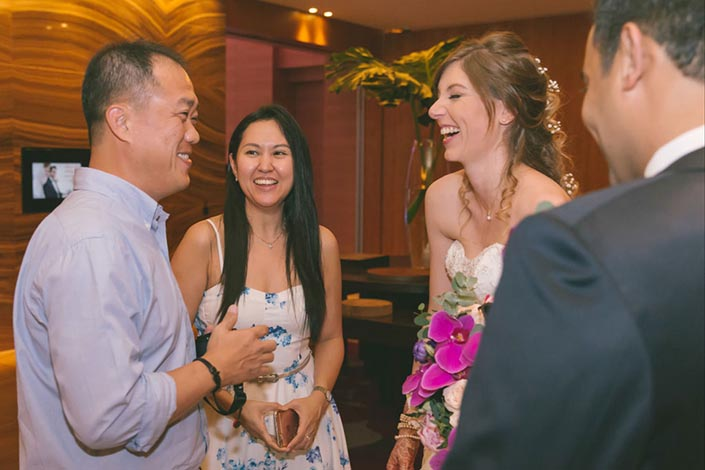 Singapore Wedding Day Photography at Grand Hyatt - Solemnisation