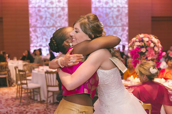 Singapore Wedding Day Photography at Grand Hyatt - Bridesmaid speech