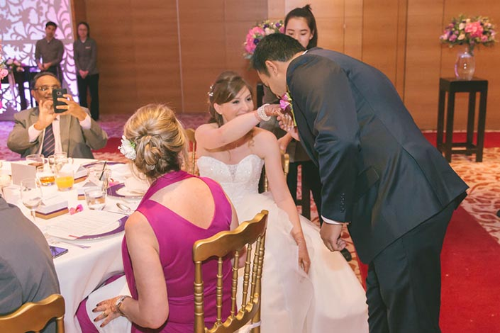 Singapore Wedding Day Photography at Grand Hyatt - Groom's speech