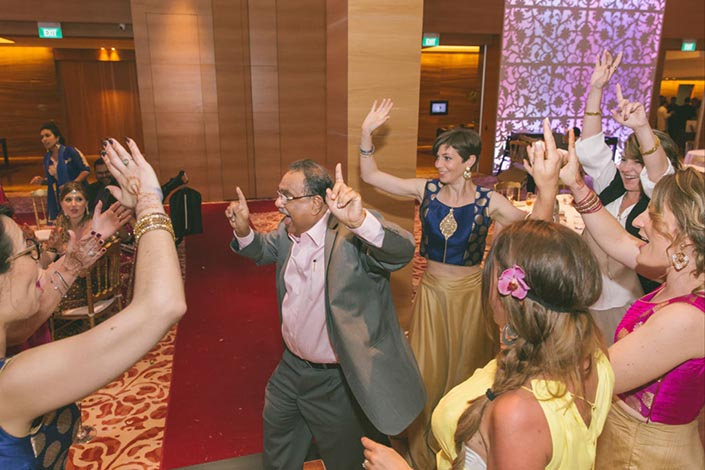Singapore Wedding Day Photography at Grand Hyatt - Dance