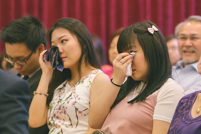 Singapore Wedding Day Photography Thank You Speech at Carmel Presbyterian Church