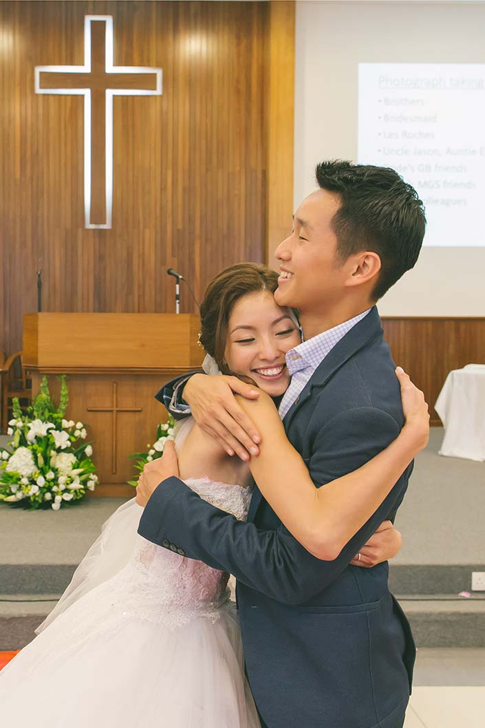 Singapore Wedding Day Photography Thank You Speech at Carmel Presbyterian Church