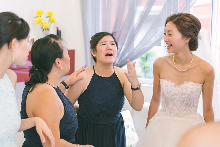 Singapore Wedding Day Photography Bride and Bridesmaids