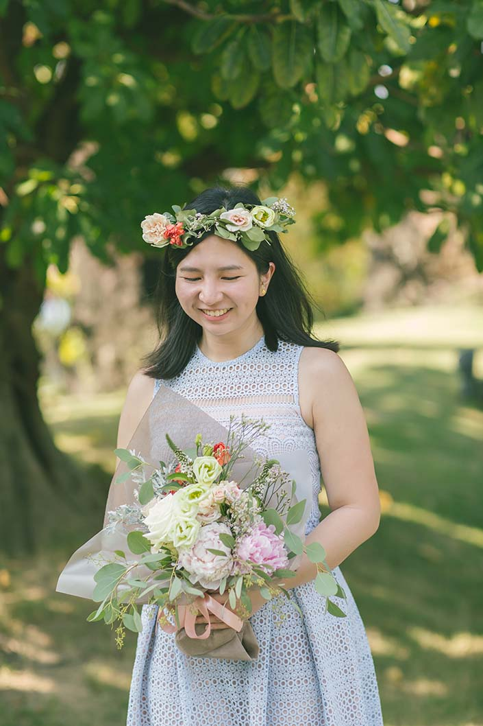 Singapore Wedding Proposal Photography (Flowers from Flores de Felice)