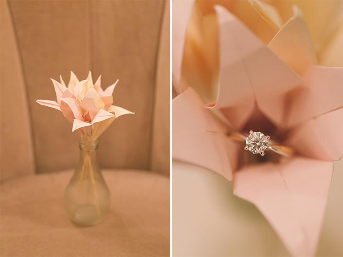 Singapore Wedding Actual Day Photography (Paper Flower and Wedding Rings)