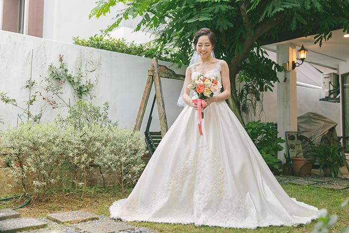 Singapore Wedding Actual Day Photography (Bridal portrait)