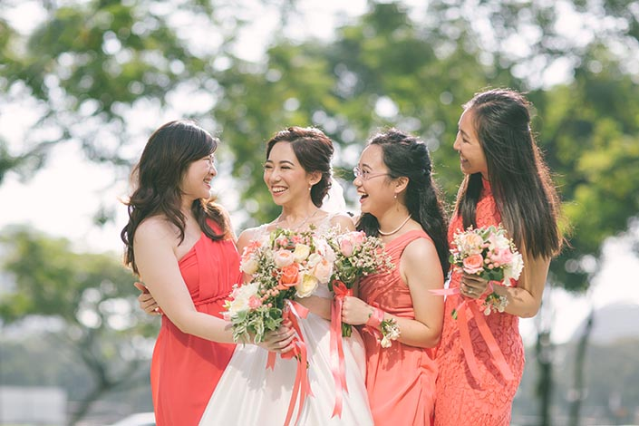 Singapore Wedding Actual Day Photography at St Andrews Cathedral (Bride and bridesmaids)