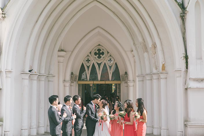 Singapore Wedding Actual Day Photography at St Andrews Cathedral (Bridal party)