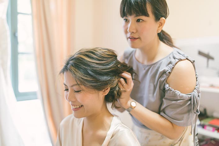 Singapore Wedding Day Photography (Hair & Makeup)