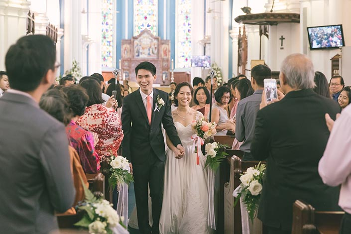 Singapore Wedding Actual Day Photography at St Andrews Cathedral