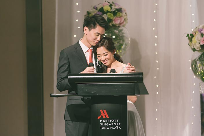 Singapore Wedding Actual Day Photography at Singapore Marriott Tang Plaza Hotel (Thank-You Speech)
