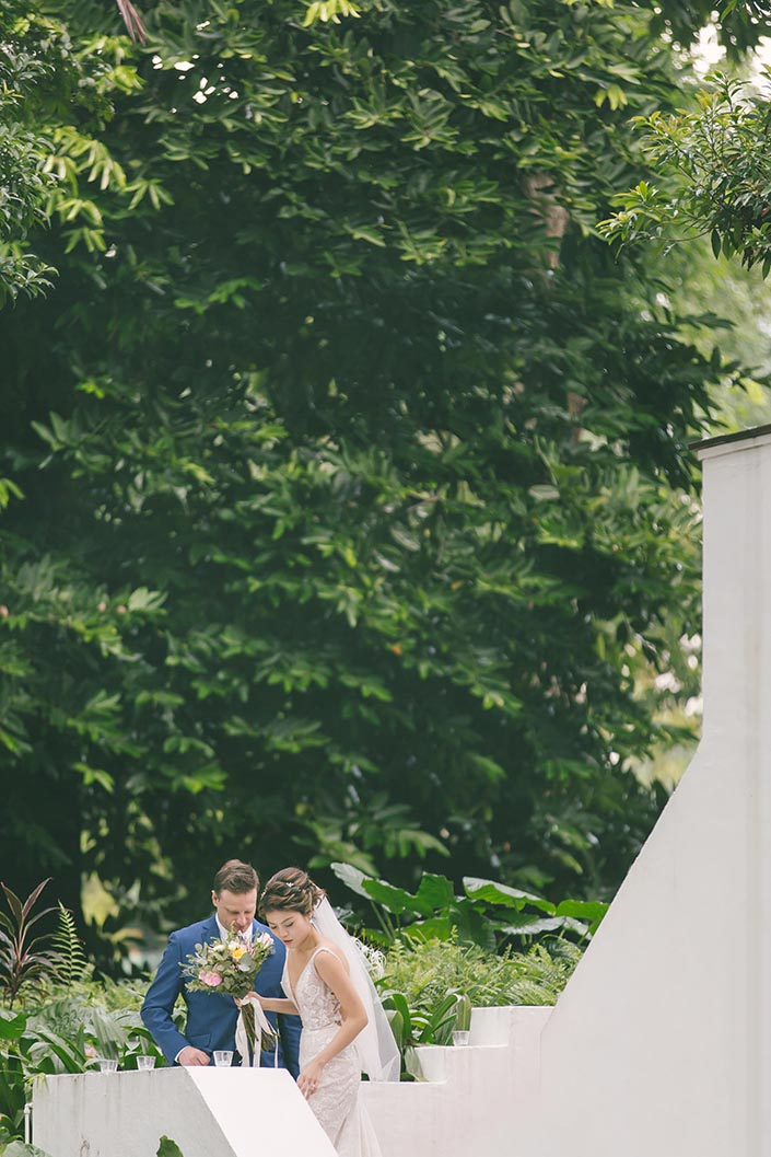 Singapore Wedding Day Photography at Botanico (Couple shots)