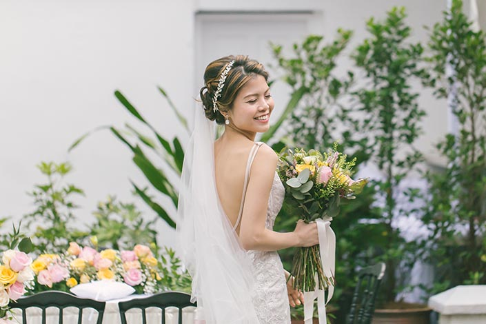 Singapore Wedding Day Photography at Botanico (The Garage)